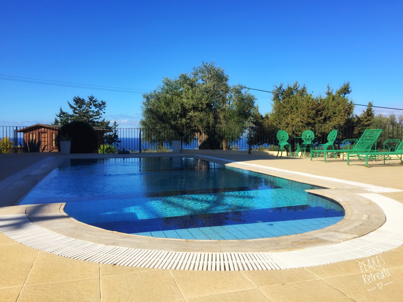 private pool, holiday villa Cyprus