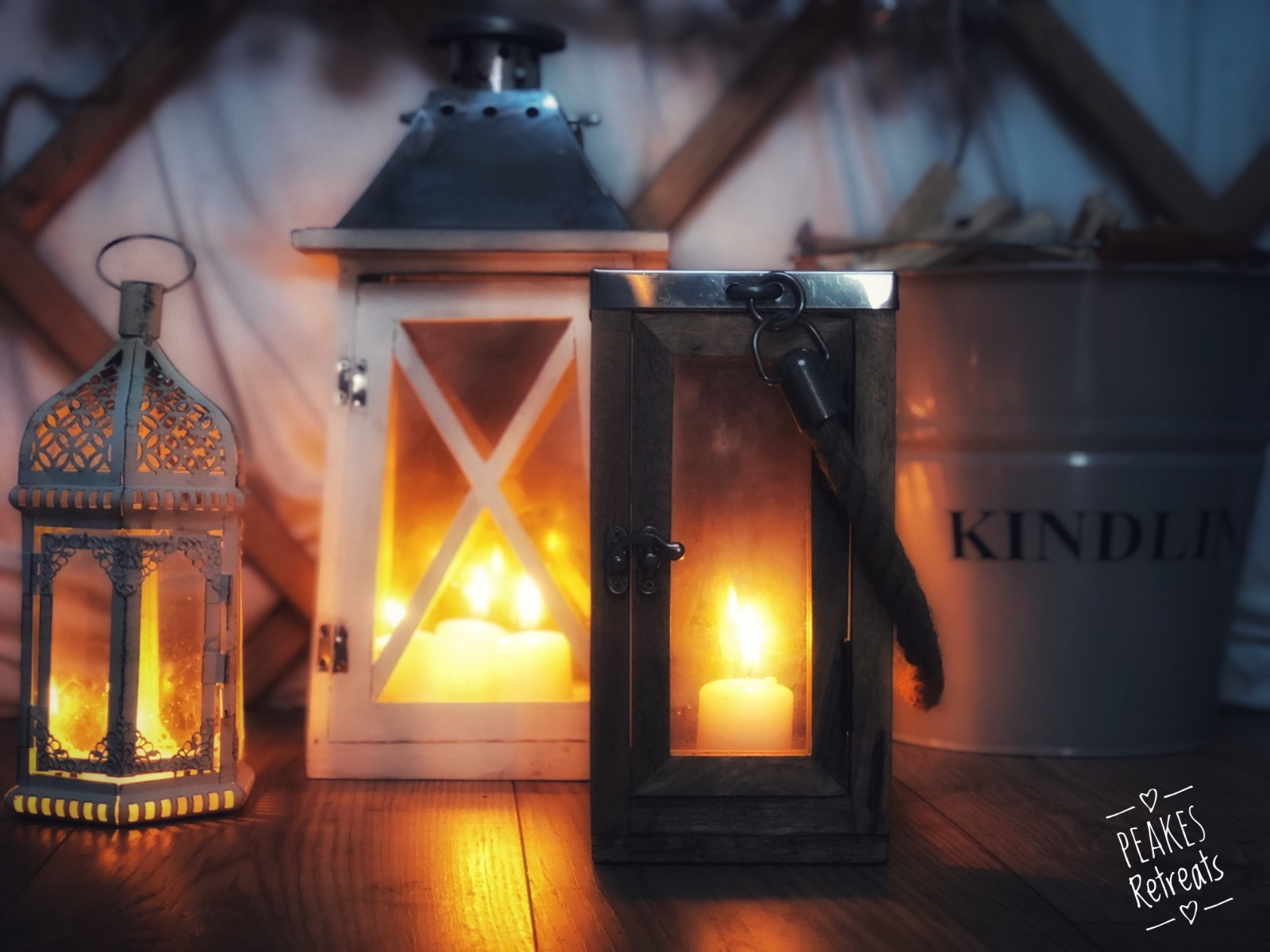 Cosy candles, in glamping yurt