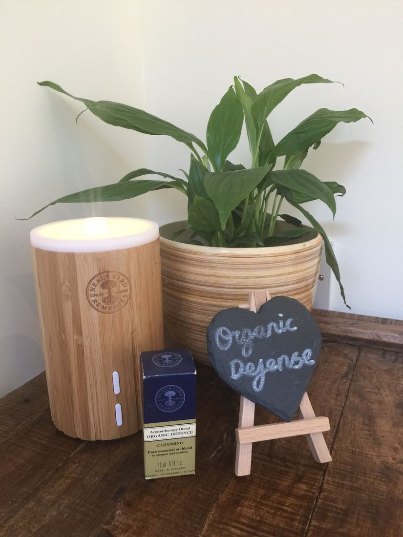 Neals Yard Remedies Organic Defense aromatherapy oil in the diffuser in our shower and toilet rooms. Luxury camping at it's best.
